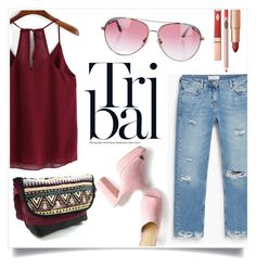 """""""Tribal"""" by steph-soto ❤ liked on Polyvore featuring MANGO and Minnie Rose"""