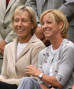 Martina Navratilova and Her Partner | Martina Navratilova, left, joins Evert as former champions gather at ...