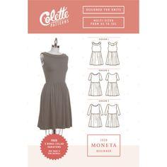 Colette - Moneta dress for knit