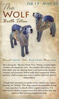 Wolf birth totem.