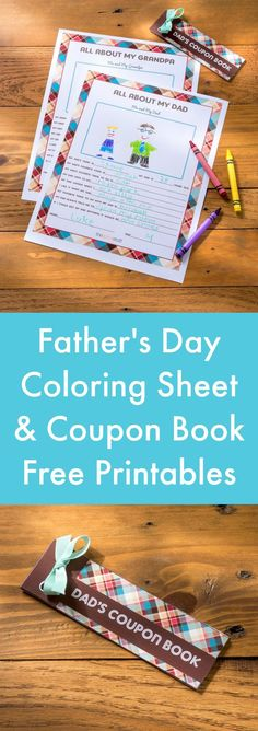 Not sure what to get Dad for Father's Day? Show him some love with these free printable Father's Day coupons and an activity sheet your child can fill in! Fathers Day Crafts, Happy Fathers Day, Daddy Gifts, Gifts For Dad, Diy Spring, Daddy Day, Great Father, Grandparents Day, Book Lovers Gifts