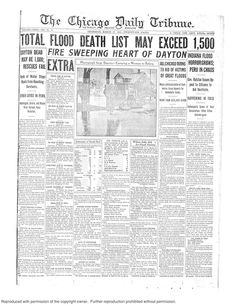 March 27, 1913: Severe weather is still wreaking havoc across the Ohio Valley, with Ohio and Indiana hit very hard. Most of Dayton, Ohio, was destroyed by fire and inundated by flooding, while areas of downstate Indiana weren't doing much better. Chicago has been helping as much as possible, sending teams and donating large amounts of money.