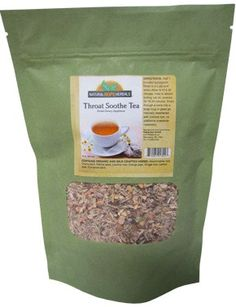 THROAT SOOTHE TEA Natural Blend for Sore Throat Comfort and Healthy Lung Support Moistening Herbal Drink