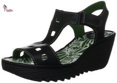 Fly London Yist, Sandales femme - Noir (Black), 40 EU (7 UK) - Chaussures fly london (*Partner-Link)