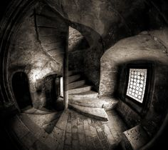 Twisted by Mogan Andrei on Location : Corvin Caslte, Hunedoara, Romania. Most Beautiful Pictures, Cool Pictures, Stairway To Heaven, Stairways, Romania, Dark Art, Beautiful World, Art Photography, Travel Photography