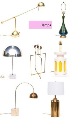 Vintage lamp collection from @One Kings Lane