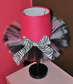 Perfect for a nursery, teen or tween room.  Tutu lamp!
