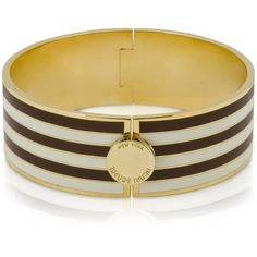 Henri Bendel Centennial Stripe Hinged Bangle (62 CAD) ❤ liked on Polyvore featuring jewelry, bracelets, accessories, stripes, украшения, bracelets bangle, henri bendel bangle, henri bendel jewelry, hinged bracelet and bangle jewelry