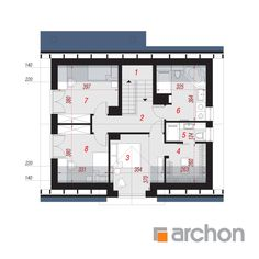 Dom pod liczi 5 (P) Architectural House Plans, Micro House, Cottage Plan, Dream House Plans, Design Case, Modern House Design, Traditional House, Planer, Floor Plans