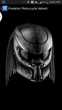 Predator motorcycle helmet....I WANT ONE!!