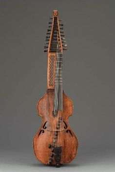 Baryton  late 19th century  Adolph Gutche, German, active late 19th century  Berlin, Germany. Dimensions     Length 127.4 cm, width 37.3 cm (Length 50 3/16 in., width 14 11/16 in.) Medium or Technique     Maple, spruce, ebony