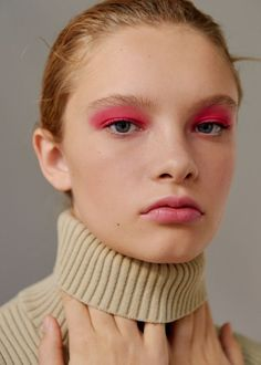 hot pink editorial makeup