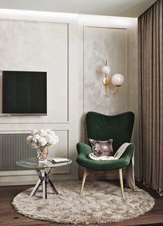 Спальня on Behance Home Room Design, Luxury Living Room, Room Design, Luxury Living Room Design, Interior, House Interior, Apartment Decor, Living Room Design Decor, Living Room Design Modern