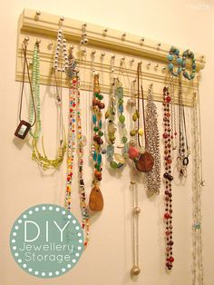 DIY Jewellery Storage... Need some of these in the closet