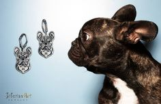 French Bulldog. jewelry dog design. SiberianArt Jewelry by Amit Eshel.