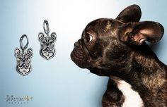 French Bulldog. jewelry dog design. SiberianArt Jewelry by Amit Eshel.