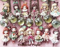 How to make Daniela Pupa 'styled' Jewels – a journey of discovery into the art of Polymer Clay doll creation | Trending Gift Ideas Featuring Designs by LeahG
