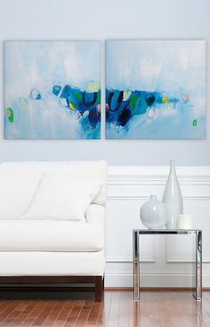 Original abstract painting Expressionist art wall Large painting acrylic linear abstract 40x20,Canvas Painting by Duealberi