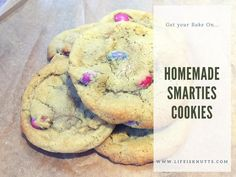 Homemade Smarties Cookie Recipe - Squidgy, gooey and delicious. If you love soft, squidgy cookies, you'll love this recipe!