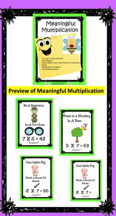 Looking for a fun way to help children memorize multiplication facts? Enjoy! Julie
