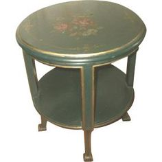 Lot: Coffee Side Table Italy 18th Century Hand Painted, Lot Number: 30557, Starting Bid: $440, Auctioneer: Prince Castle Auctions, Auction: Fine Arts, Decor & Furniture and Jewelry, Date: February 17th, 2017 CST