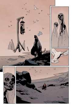 """Hellboy in Hell"" #10; Mike Mignola"