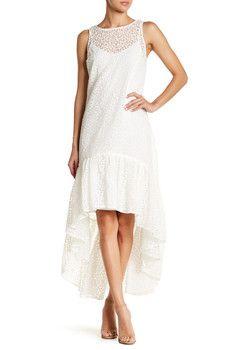 ERIN erin fetherston - Trianon Embroidered Hi-Lo Maxi Dress