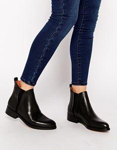 Whistles Bryton Black Flat Chelsea Boots