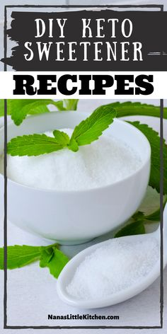 Make your own keto friendly sweetner at home. This low carb sugar alternative is sure to put that sweet tooth at ease and its easy to make! Sugar Free Sweets, Low Carb Sweets, Low Carb Desserts, Healthy Desserts, Sugar Free Recipes, Low Carb Recipes, Real Food Recipes, Sweet Tea Recipes, Sugar Alternatives
