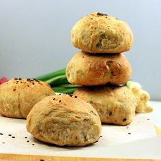 Garlic, Scallion, Jalapeno savory Buns/rolls. #vegan