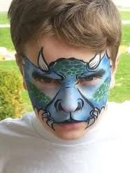 Image result for dinosaur face paint