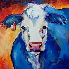 Art: BLUE MOO 1212 by Artist Marcia Baldwin
