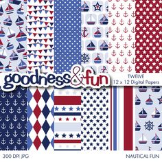 Set sail all year round with the Nautical Fun Papers set. Great for celebrations, room decor, scrapbooking and much much more!