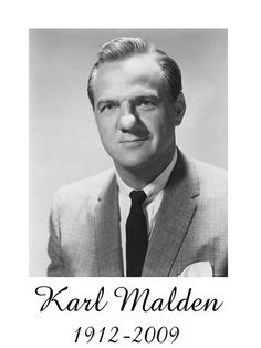 In Memoriam: Karl Malden Hollywood Icons, Hollywood Actor, Hollywood Stars, Classic Hollywood, Old Hollywood, Classic Movie Stars, Classic Movies, Famous Men, Famous Faces
