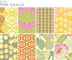 Amy Butler Pink Dahlia prints from her Midwest Modern collection.  Just screams HAPPY!!! :D