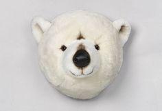 Decoración Infantil - Cabeza Peluche de oso para habitación niños