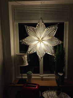 Julfönster, julstjärna