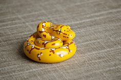 Handmade Polymer Clay Animal: Baby Green Tree Python / OOAK