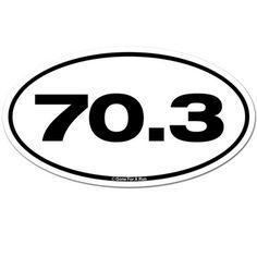 70.3 Car Magnet - White