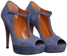 61f130e14f2 Gucci Grey Suede T bar Peep Toe Shoe - Polyvore Peep Toe Shoes