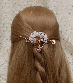 Tree of Life Shawl pin and hair slide copper wire tree of