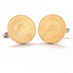 Mount Everest Cufflinks Cuff Links Coin Nepal Rupee Coins Money Champion Asia India Finance Trade