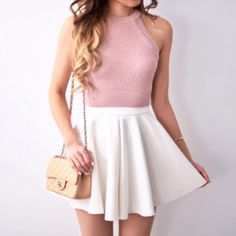 Super Skirt Outfits For Teens Schools Girly Ideas Tumblr Outfits, Girly Outfits, Outfits For Teens, Pretty Outfits, Cool Outfits, Casual Outfits, Converse Outfits, Cute Skirts, Cute Dresses