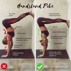 How to do a Handstand Pike! This pose is a game changer! Don't get frustrated if you can't do I️t right away - I certainly could not the first time I tried I️t. My feet kept slipping down and I felt like I was really far forward when my hips were really over my hands. It's also very challenging to look at the wall, so work on this, day by day, Breathe by Breathe. You'll get it! I promise __________ Are you a part of the #TakeAction community? Join 1000s who are taking action towards a…