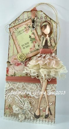 Prima doll #4 with bits of lace for skirt