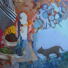"""Saatchi Art Artist justine formentelli; Painting, """"Zitoune rendez vous- from moroccan series"""" #art"""