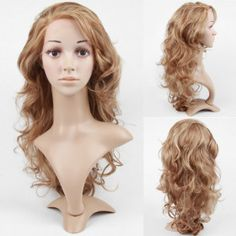 Lace Front Long High Quality Synthetic Light Blonde Curly Hair Wig - I like the Color