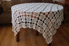 Crochet Tablecloth Linen Tablecloth Crochet Lace Linen Tablecloth by Rokasdarbi on Etsy https://www.etsy.com/listing/111935256/crochet-tablecloth-linen-tablecloth