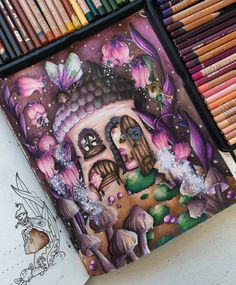 Markova, Prismacolor, Adult Coloring, Colored Pencils, Fairy, Photo And Video, Instagram, Jewelry, Videos