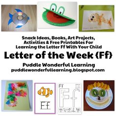 Puddle Wonderful Learning: Preschool Activities: Letter of the Week Ff